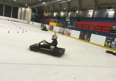 Karting On Ice Guildford Photo