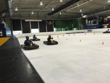Karting On Ice Oxford Photo